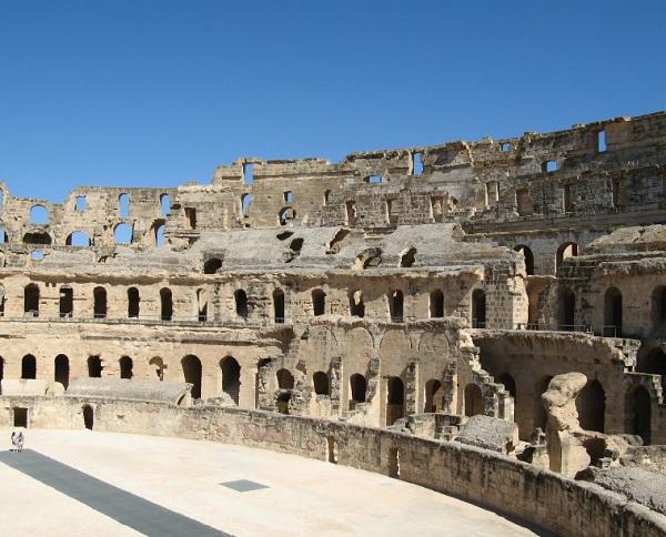 L'amphithéâtre d'El Jem en Tunisie