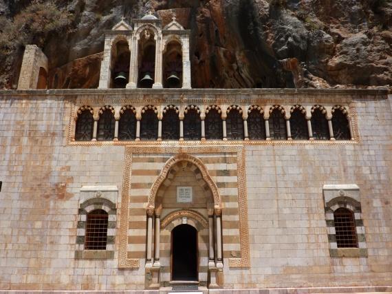L'entrée du couvent de Qozhaya