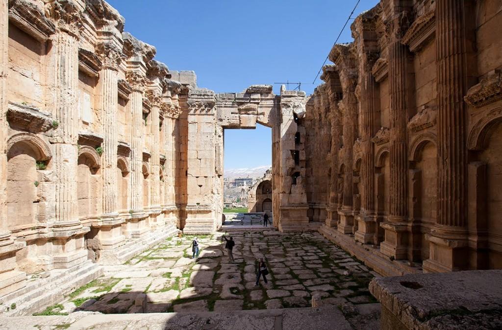 Les ruines de Baalbek (Bacchus)
