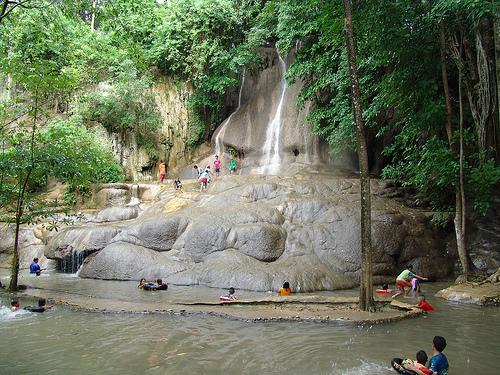 Moment de détente au Sai Yok Noi waterfalls