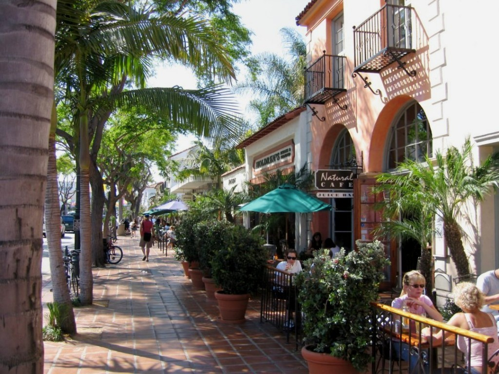 La principale rue de Santa Barbara